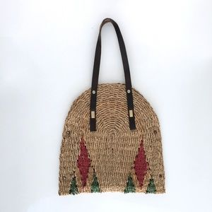 Vintage woven diamond bag